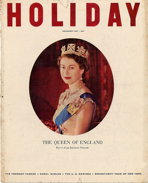 Holiday Magazine, The Queen of England, November 1957