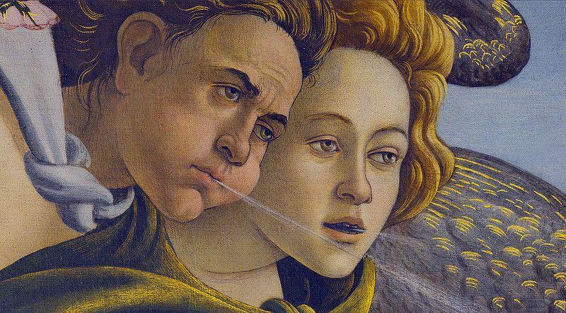 Sandro Botticelli, Narodziny Wenus, ok. 1482-1485; 172,5 x 278,5 cm, tempera na płótnie, Galleria degli Uffizi, Florencja